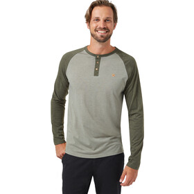 tentree Henley Classic LS Shirt Men vetiver green heather/olive night green heather